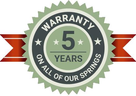 5 Years Springs Warranty